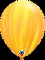 "Гелиевый шар 12"" 30см агат желто-оранжевый"