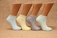 Женские носки короткие с бамбука с люрексовой резинкой ZG 36-40 пастель ассорти