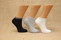 Жіночі шкарпетки короткі з бамбука з люрексовою гумкою ZG 36-40 асорті