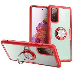 TPU+PC чехол Deen CrystalRing for Magnet (opp) для Samsung Galaxy Note 20