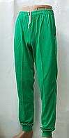 Трикотажные спортивные штаны батал(зелёный), фото 1