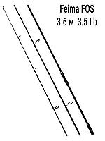 Удилище карповое 3.6 м тест 3.5 lb Feima FOS