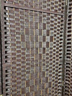 Ширма з дерев'яним каркасом, 180 х 200, коричневий колір 2, фото 2