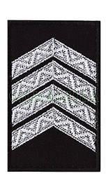 """Погон-липучка """" Старший сержант поліції """" 80х50мм"""