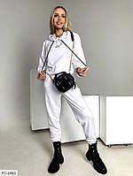 Молодежный спортивный костюм  женский легкий худи с капюшоном и штаны р-ры 42-48 арт.  2232