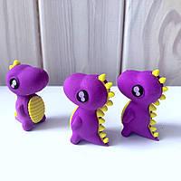 Оригинальная резинка в форме Динозавра фиолетовый