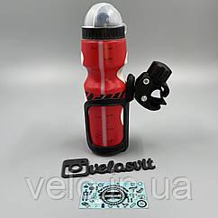 Пластиковый держатель-прищепка бутылки на руль