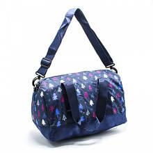 Небольшая легкая спортивная тканевая сумка с рисунками детская, для девочки