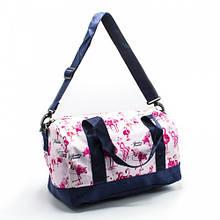 Небольшая спортивная летняя пляжная сумка из легкой ткани с рисунками детская, для девочки