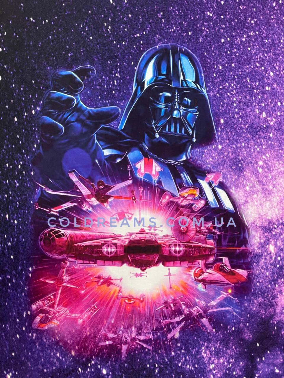 """Стрейч кулир принт """"Звёздные войны"""" купон 70х180см. (диджитал)"""