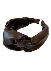 """Стильний обруч обідок з еко шкіри """"шоколад"""" для волосся my scarf"""