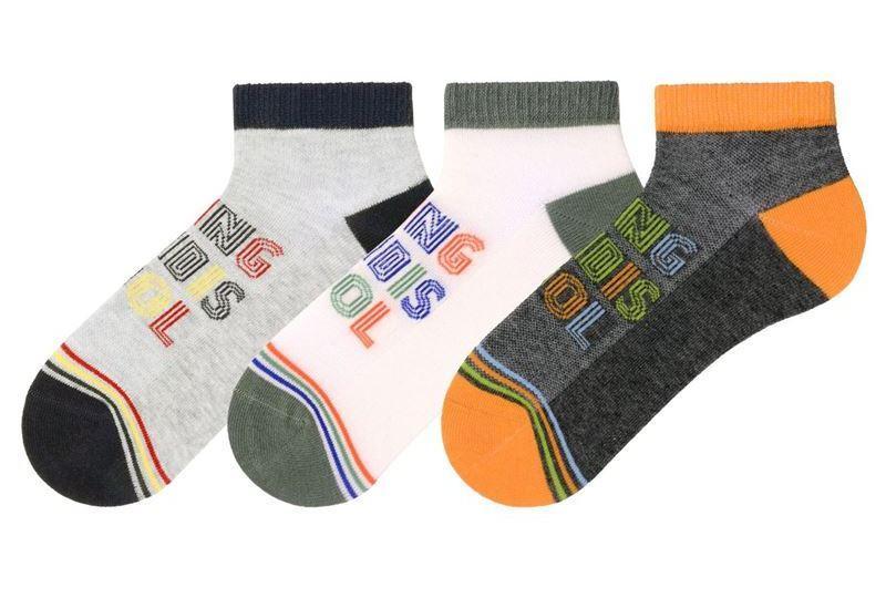 Носки детские укороченные хлопковые Bross с рисунком