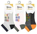 Шкарпетки дитячі укорочені бавовняні Bross з малюнком, фото 2