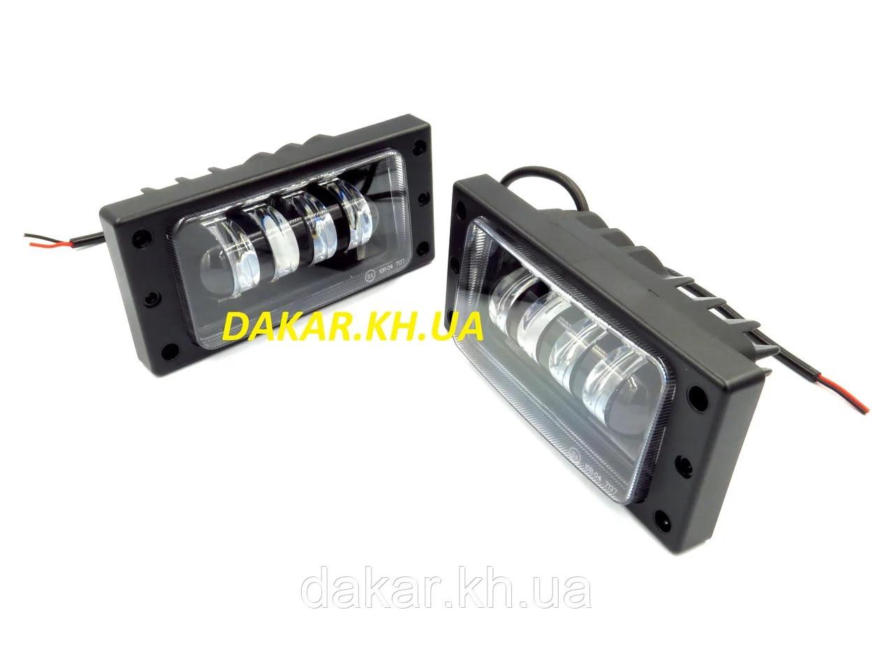 Фары противотуманные светодиодные ВАЗ 2110 60W LED и дневные ходовые огни DRL