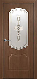 Двері міжкімнатні Вензель Р1 скло сатин Золота вільха, 900