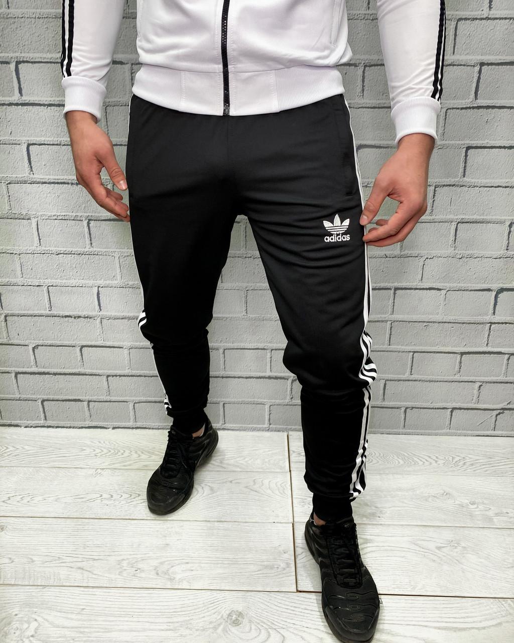 Штаны спортивные Adidas Белый Штаны на манжете и резинки Мужская спортивная одежда XL