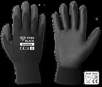 Перчатки защитные PURE BLACK полиуретан, размер  9, RWPBC9 Бренды Европы