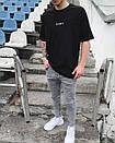 Мужские серые зауженные джинсы топ качество, фото 3