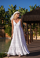 Дивовижне плаття сарафан з бавовняного мережива преміум якість