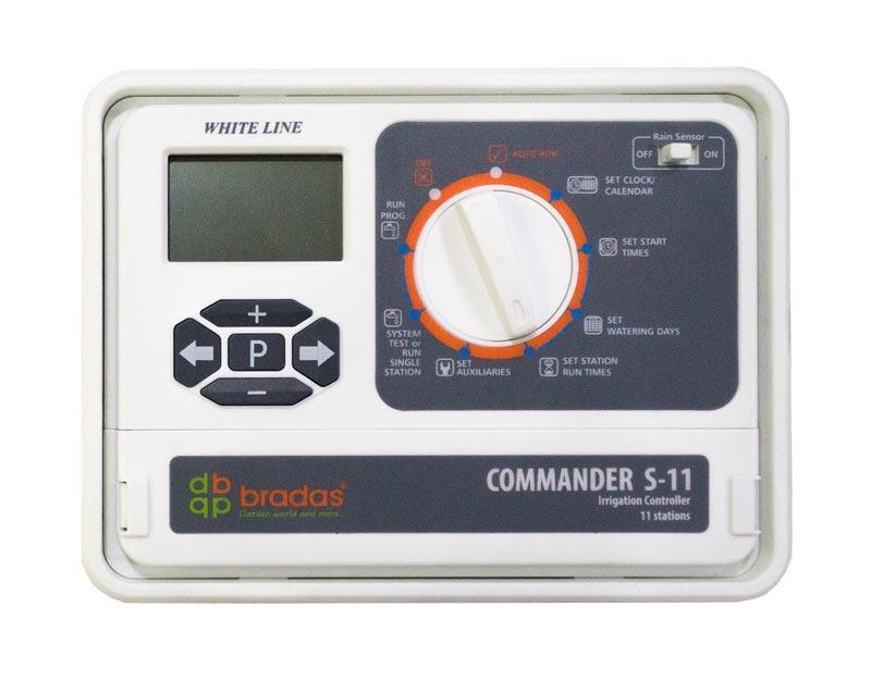 Электронный контроллер полива, 11 секций  (зон), WHITE LINE, WL-31S11