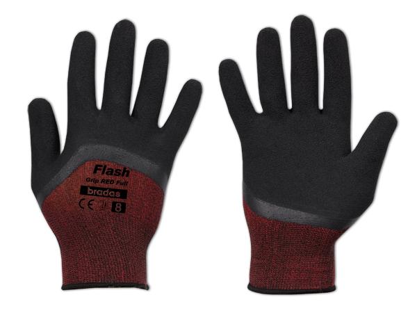 Рукавички захисні FLASH GRIP RED FULL латекс, розмір 9, блістер, RWFGRDF9 Бренди Європи, фото 2