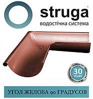 STRUGA 125 мм Кут жолоба універсальний 90 градусів, фото 1