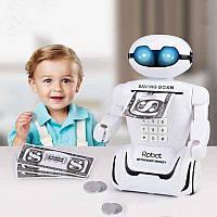 Игрушечный детский сейф робот копилка с электронным кодовым замком и ночником Robot Piggy Bank 6688-8