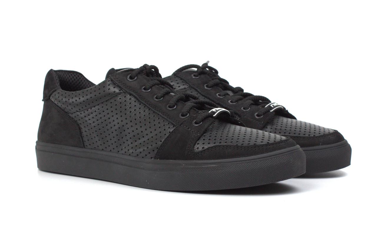 Летние кроссовки кеды повседневные кожаные черные мужская обувь Rosso Avangard Nice BlackFlotoPerf TPR