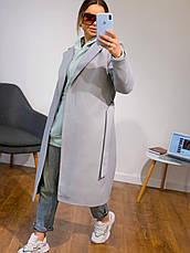Жіноче кашемірове пальто з поясом (4 кольори), фото 3