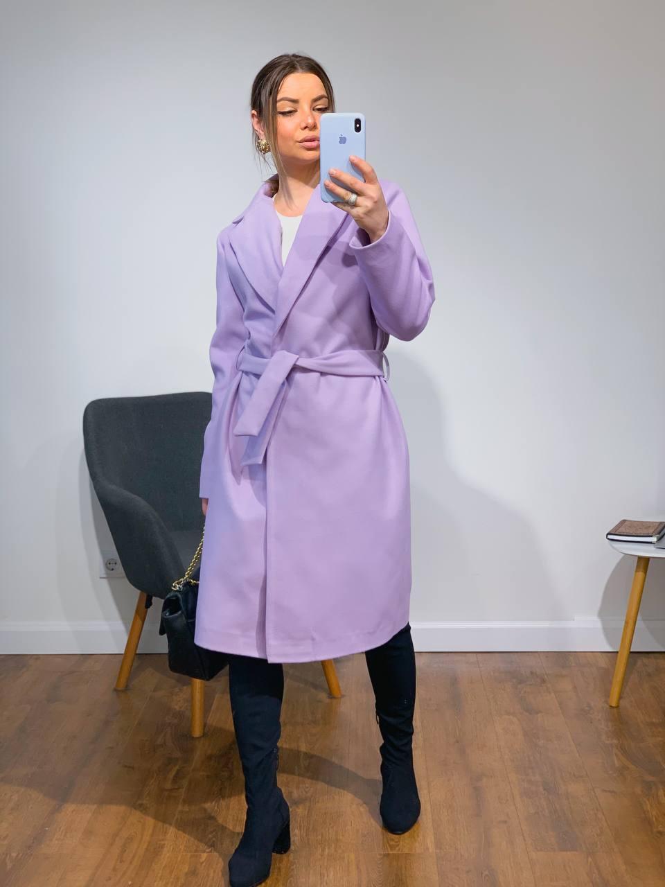 Жіноче кашемірове пальто з поясом (4 кольори)
