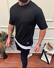 Чоловіча футболка преміум якості, чорна