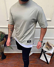 Чоловіча футболка преміум якості, сіра