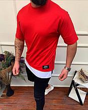 Чоловіча футболка преміум якості, червона