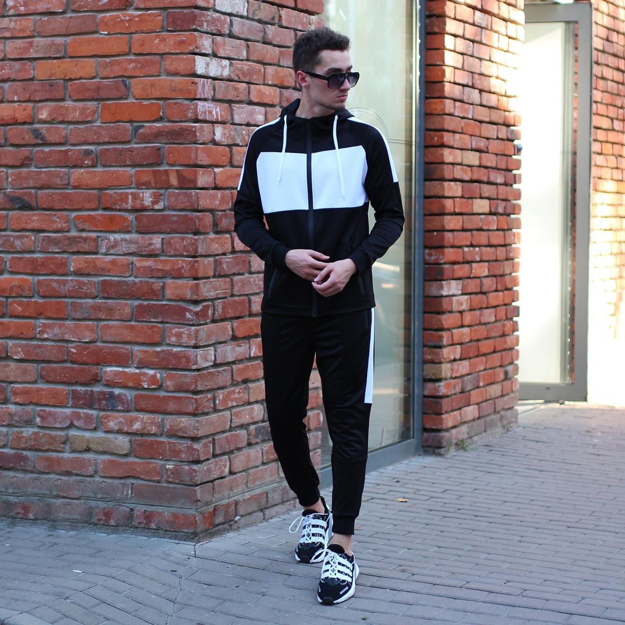 Чоловічий спортивний костюм Street чорно білий