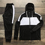 Чоловічий спортивний костюм Street чорно білий, фото 2