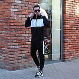 Чоловічий спортивний костюм Street чорно білий, фото 3