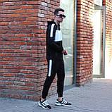 Чоловічий спортивний костюм Street чорно білий, фото 4