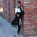 Чоловічий спортивний костюм Street чорно білий, фото 5