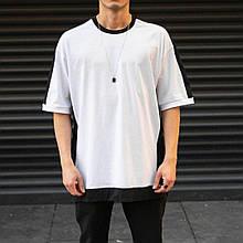 Чоловіча/жіноча футболка біла з чорним