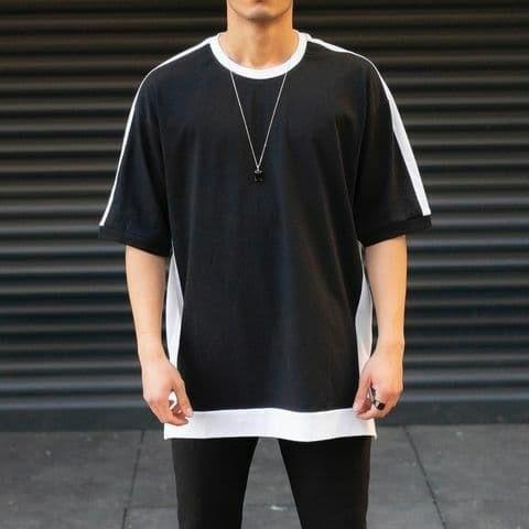 Чоловіча/жіноча футболка чорна з білим
