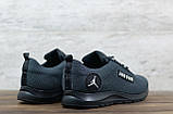 Мужские кроссовки Jordan серые, сетка, фото 2