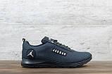 Мужские кроссовки Jordan серые, сетка, фото 3
