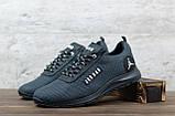 Мужские кроссовки Jordan серые, сетка, фото 5