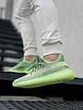 Жіночі кросівки Adidas Yeezy Boost 350 V2 салатові, фото 2