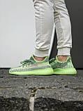 Жіночі кросівки Adidas Yeezy Boost 350 V2 салатові, фото 3