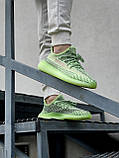 Жіночі кросівки Adidas Yeezy Boost 350 V2 салатові, фото 4