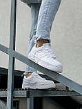 Женские кроссовки Nike Air Force 1 белые, фото 4