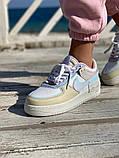 Женские кроссовки NIKE AIR FORCE SHADOW белые с бежевым, фото 2