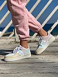 Женские кроссовки NIKE AIR FORCE SHADOW белые с бежевым, фото 5