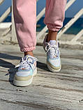 Женские кроссовки NIKE AIR FORCE SHADOW белые с бежевым, фото 6